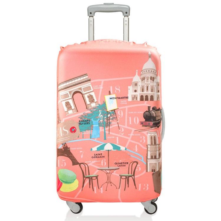 Чехол для чемодана paris средний - цена 1 880 руб. - купить в подарок в интернет-магазине Чудо в подарок-chudovpodarok.ru